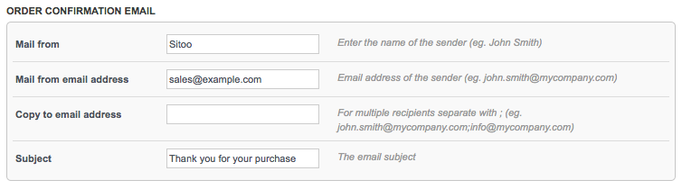 Email a digital receipt – Sitoo Support